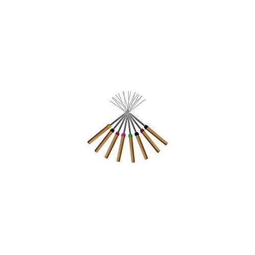21Vw5C8JjzL. SS500  - Marshmallow Roasting Sticks ,KEKU Set of 8 Telescoping Rotating Smores Skewers & Hot Dog Fork Kids Camping Campfire Fire Pit Accessories