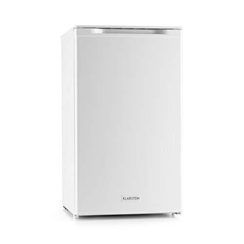 Klarstein Garfield XL White Edition - Congélateur, Capacité 75L, Tiroirs avec façade transparente, Thermostat réglable à 4 niveaux, Hauteur réglable, 39 dB, blanc