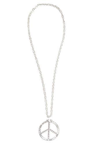 Bristol Novelty BA3227 Peace-Halskette, Herren, Damen, Silber
