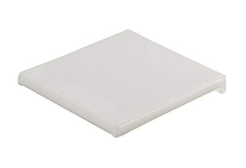 AVANTI TRENDSTORE - Mexo - Cuscino in Similpelle per panche, Disponibile in 3 Diversi Colori, Dimensioni Lap: 40x6x36/38 cm (Bianco)