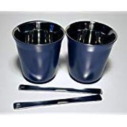 NESPRESSO Lungo vivalto Pixie Lungo Tasse métal (Bleu)