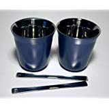 Vivalto Lungo Nespresso Pixie Lungo Metall Becher Tasse (blau)