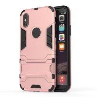 BCIT iPhone X (5.8 inch) Custodia - Ultra Sottile 2-in-1 Case Protettivo Estrema Assorbimento-Urti [Kickstand] Armatura Cover Per iPhone X (5.8 inch) - Argento Rose Oro