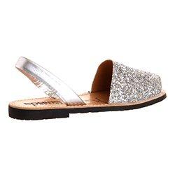 Solillas , Damen Sandalen Silber Glitter