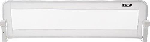 ABUS Bettgitter Eric 150 cm breit | für Baby-, Kinder- und Elternbetten | Kinderbettgitter / Babybettgitter | Rausfallschutz | faltbar (ideal für Reisen) | Bezug waschbar | weiß | 73127