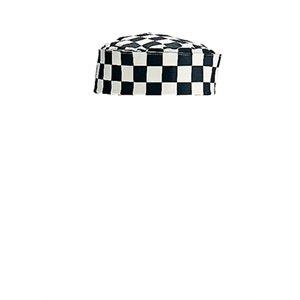 Whites Chefs Apparel Kunstdruck Chef Skull Cap, Big schwarz und weiß kariert