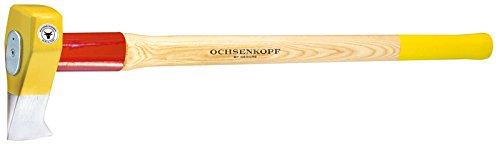 Ochsenkopf OX 635 H-3009 Profi-Holzspalthammer Big Ox® / Hochwertiger Spalthammer mit Hickory-Holzstiel und Rotband-Plus Stielbefestigung / Gewicht: 4200 g