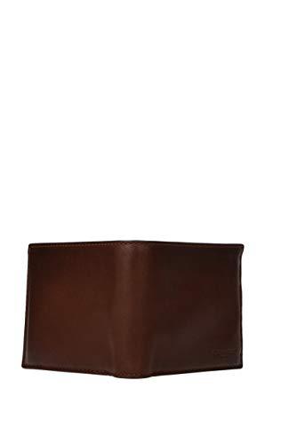 COACH Men's Sport Calf Compact ID Wallet Dark Saddle Wallet