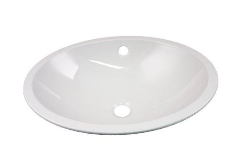 Alape Einbaubecken EB.0525 oval, weiß 2101000000