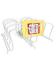 Heavy Pflicht Geschirr Veranstalter (weiß, 2Stück) mit Bonus rutschfesten Mini Schneidebrett - Veranstalter Schneidebrett