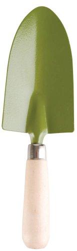 Truelle en métal verte et bois clair 8x3.5x28cm