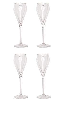 Cosy Trendy Champagnerglas 4 Stück Doppelwandig Champagne Glas Thermo Gläser Gläser