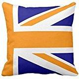 Navy and Orange Union Jack Half Pillow case2020 -