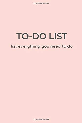 TO-DO LIST - list everything you need to do: Minimal style Rose gold edition A Unique to do list 6 x 9 inches 120 Pages   The Best daily task planner notebook