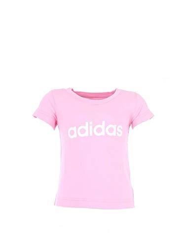 adidas Mädchen Essentials Linear T-Shirt, True Pink/White, 110 -