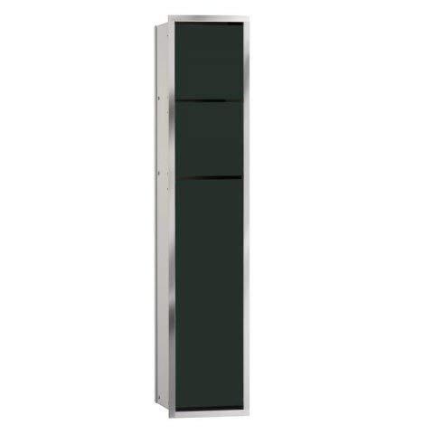 Emco asis WC-Modul (150) up, 809mm,ohne Einbaurahmen,Alu/Schwarz