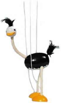 Goki SO104 - Strauß, Marionette