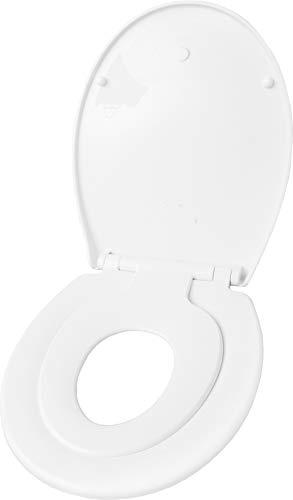 Cornat WC-Sitz Family Neo - Pflegeleichter Thermoplast - Montierbarer Kinder-Sitz - Quick up & Clean Funktion - Absenkautomatik - Bequeme Montage von oben / Toilettensitz / Klodeckel / KSFAMN00