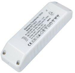 Unbekannt Elektronischer Halogen Trafo 230V auf 12V 50–150Watt mit Überlastungsschutz und Temperatursicherung 160x 46x 33mm, 2 Transformatoren