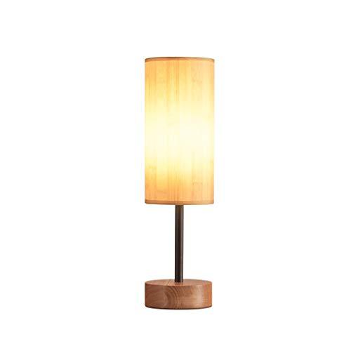 JXLBB Iluminación Lámpara de mesa de madera nórdica Lámpara ...