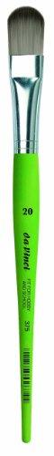 Da Vinci 375Serie Filbert Form Bürste, 20, Synthetische Fasern, grün, 21x 1,61x 30cm -