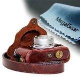 MegaGear Custodia Pelle Per Fotocamera Fujifilm X30 12 MP Fotocamera Digitale Compatte, Marrone