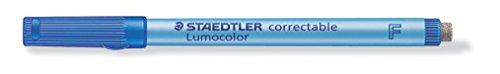 Staedtler Lumocolor 305 F-3 correctable Folienstift F-Spitze, circa 0.6 mm, 10 Stück im Kartonetui,...