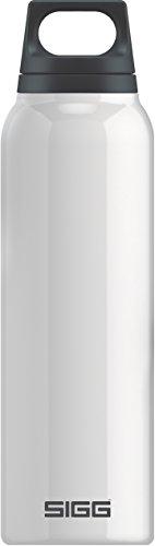 Sigg Hot & Cold White Isolierung Vakuums, 0, 5l, ohne BPA Trinkflasche Thermoskanne aus Edelstahl Unisex Erwachsene, weiße