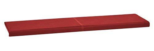 animal-design XXL Klemm-Kissen Sitz-Kissen für Sitz-Bank Kunstleder Breite 150cm mit Montage-Set viele Farben, Farbe:rot