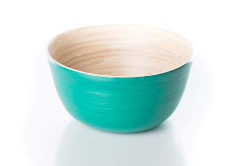 Bea mely ciotola in bambù – ciotola in legno – insalatiera – dip – müsli – zuppa – verde smeraldo