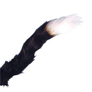 Katzenschwanz, schwarz mit weißer Spitze (Brief E Fancy Dress Kostüm)