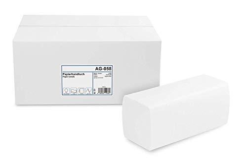 Funny Papierhandtuch, ZZ-Falz, ca. 25 x 23 cm, 2lag, hochweiß, 4000 Blatt, 1er Pack (1 x 1 Stück)