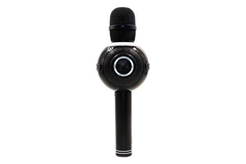 Icon Singer Pro Party - Micrófono Inalámbrico de Karaoke con Bluetooth, Efectos de Sonido, Luces LED Multicolor - Compatible con Android e IOS - Incluye Batería (Más de 8 horas de Duración)