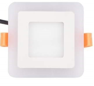 Citra 6W LED Square Panel Ceiling Light With 3D Effect (White & Blue)