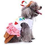 Coppthinktu Cupcake Hundekostüm für Kuchen und Dessert für Hunde und Katzen, Halloween-Kostüm, Medium, Mehrfarbig (Für Einfache Party Halloween-desserts)