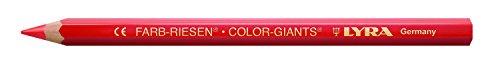 Caja de cartón de color Lyra Gigantes con 12 lápices de colores, escarlata
