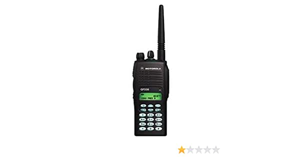 Motorola GP338 Portable, VHF (136 - 174 MHZ) 16 channels, 5W, with keypad  Two-way Radio With Battery, Antenna, Charger, and More, Pack Of 2