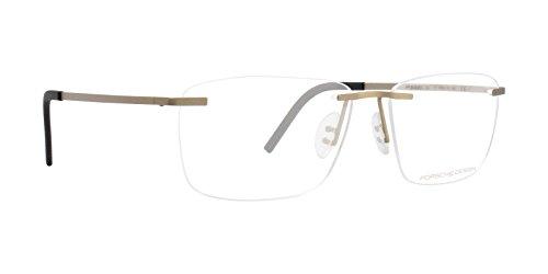 Porsche Design P8321 Brille mit goldfarbenen und klaren Gläsern