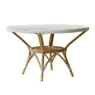 AFFAIRE - Danielle Table Diam.120Cm sans Plaque De Verre (Blanc/Cappuccino)
