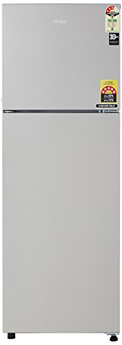 Haier 258 L Frost Free Double Door 3 Star Refrigerator (HEF-25TGS, Moon Silver)