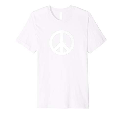 Schablone Weißes Friedensschild Logo Symbol T-Shirt 1960er