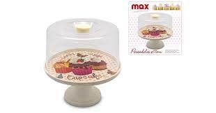 max italia Tortenständer für Süßigkeiten, Kuchen, Glocke, Fuß 17 cm