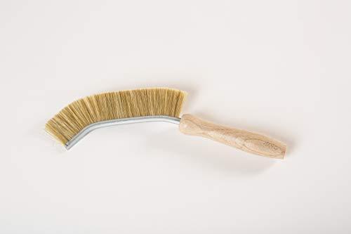 Holz-Leute Fugenbürste aus Naturborsten - Bürste zur Fugenreinigung im Haushalt