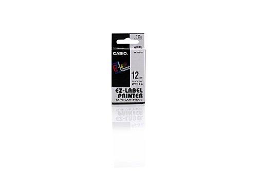 Casio KL 7400 - Original Casio XR-12WE1 - Ruban Noir Blanc (8 m x 12 mm)