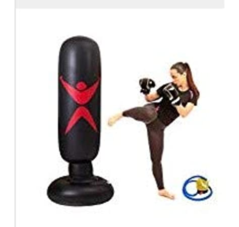 Inflatable Boxing Punch Bag Training Fitness Tumbler Standing Pump Kick Workout