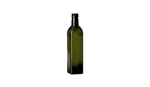 6 pezzi bottiglia in vetro scuro UVAG marasca olio liquore capacita' 750 ml con tappo