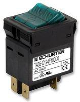 CIRCUIT BREAKER, 20A, 2POLE, GREEN CBE TA35-C124F200C0 By SCHURTER (20 Amp Circuit Breaker)