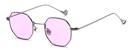 Sonnenbrille Farben Extrem Geringes Gewicht Frauen Kleine Quadratische Sonnenbrille Mode Men Blau Getönt/Klare Gläser Gläser Lila