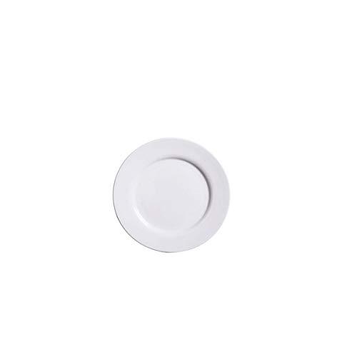 Haoyushangmao Juego Platos Porcelana Blanca 10 Pulgadas
