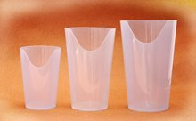 Nosey Cup - Clear - 8 oz.- Sold by Each by Ableware